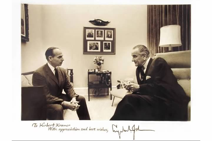 Uncle Herbie with President Johnson